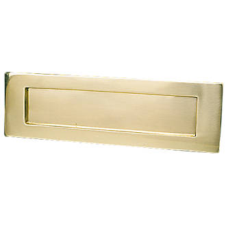 Victorian Letter Plate Polished Brass 254 x 76mm