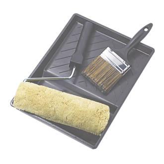 No Nonsense Extra Long Pile Masonry Roller & Brush Kit 4 Piece Set