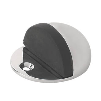 Oval Door Stops Polished Chrome 2 Pack
