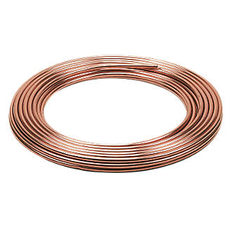 Wednesbury Microbore Copper Coil Pipes 10mm x 25m
