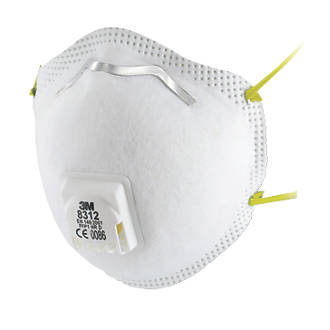 3M 8312 Cup-Valved Respirators P1 10 Pack