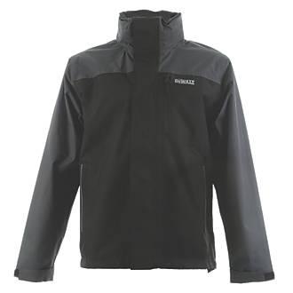 """DeWalt Storm Waterproof Jacket Black / Grey Large 42-44"""" Chest"""