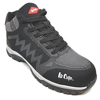 Lee Cooper LCSHOE102   Safety Trainer Boots Black / Grey Size 10