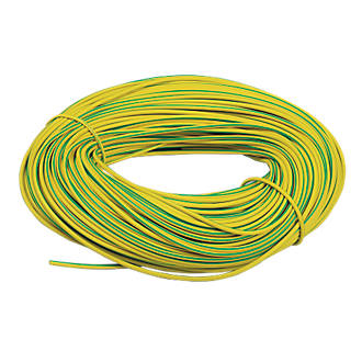 CED Green/Yellow Sleeving 3mm x 100m