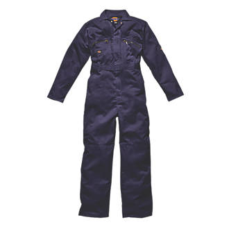 """Dickies Redhawk Zip Front Coverall Navy Medium 42"""" Chest 30"""" L"""