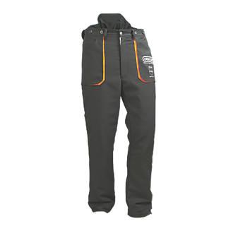 "Oregon Yukon  Chainsaw Trousers Black / Orange 38-39"" (96-99cm) Waist  31"" (78cm) Leg"