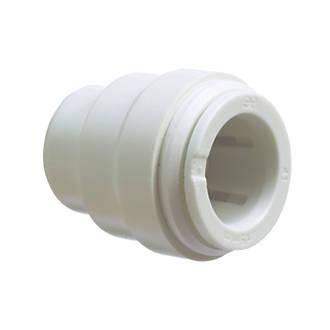 JG Speedfit  Plastic Push-Fit Stop Ends 22mm 2 Pack