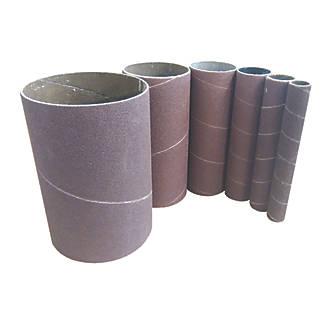 Scheppach Bobbin Sanding Sleeves 13-76mm 120 Grit 6 Piece Set