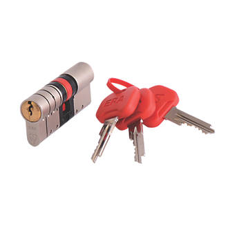 ERA  Euro Double Cylinder Door Lock 40-45 (85mm) Satin Nickel/Brass