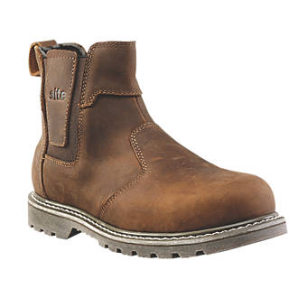 Site Mudguard   Safety Dealer Boots Brown Size 7