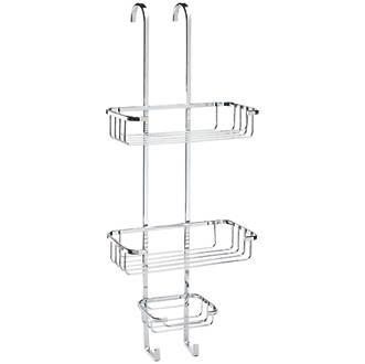 Croydex 3-Tier Hook-Over 3-Tier Basket Chrome