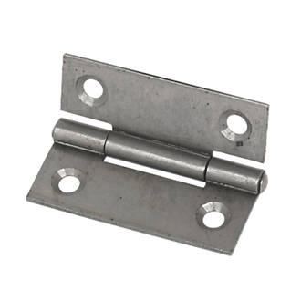 Self-Colour  Steel Fixed Pin Hinges 50 x 38mm 2 Pack