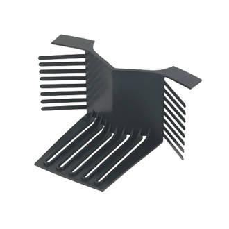 Glidevale Black Universal Dry Verge End Caps 2 Pack