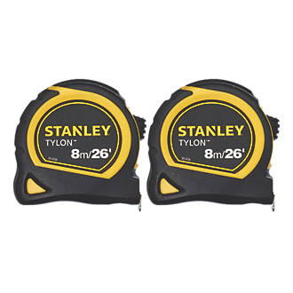 Stanley  8m Tape Measure 2 Pack