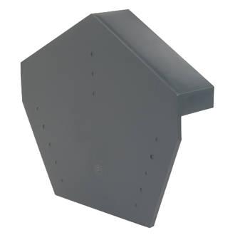 Glidevale Grey Universal Dry Verge Angled Ridge Caps 2 Pack