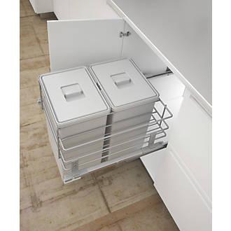 Hafele Pull-Out Kitchen Bin Grey 2 x 24Ltr