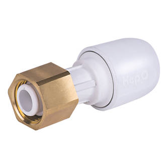 """Hep2O  Plastic Push-Fit Straight Tap Connector 22mm x ¾"""""""