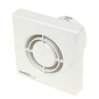 Manrose QF100H 7W Bathroom Extractor Fan with Humidistat & Timer White 240V