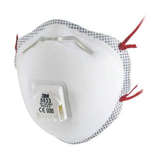 3M 8833SP Cup-Valved Respirators P3 5 Pack