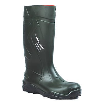 Dunlop Purofort+   Safety Wellies Green Size 4