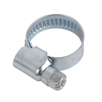 Easyfix Blue Zinc-Plated Hose Clips 12-20mm 10 Pack