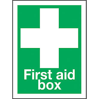 """""""First Aid Box"""" Sign 200 x 150mm"""