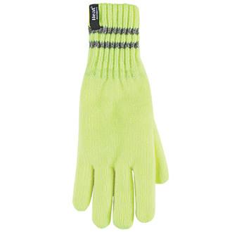 SockShop Heat Holders Thermal Gloves Yellow Large / X Large