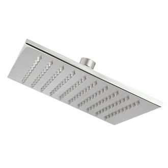Cooke & Lewis Fixed Square Shower Head Chrome 200mm