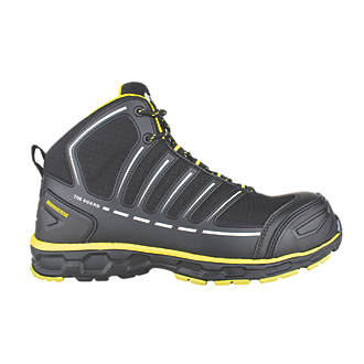 Toe Guard Jumper   Safety Trainer Boots Black / Yellow Size 8
