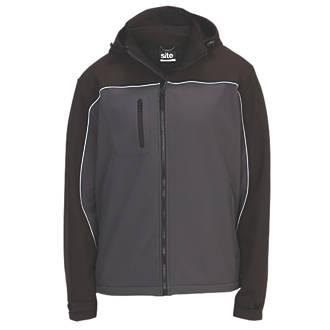 "Site Kardal Water-Resistant Softshell Jacket Black /  Grey Medium 48"" Chest"