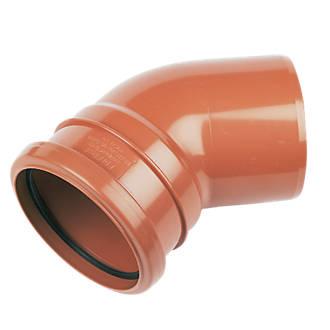 FloPlast Single Socket Bend 45° 110mm