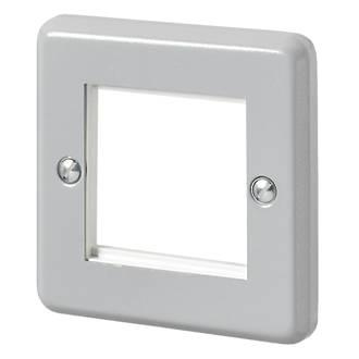 MK  1-Module Modular Faceplate Aluminium