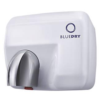 BlueDry Blue Storm High Speed Hand Dryer White 2.3kW