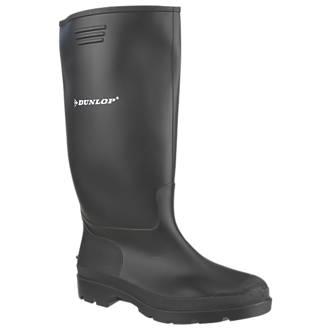Dunlop Pricemaster 380PP   Non Safety Wellies Black Size 7