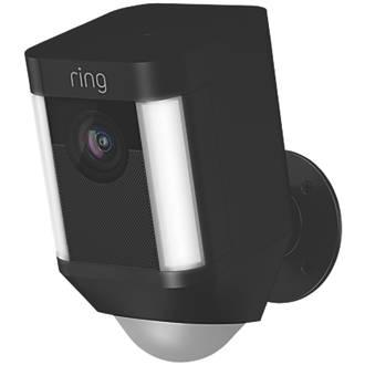 Ring Spotlight Battery-Powered Camera PIR Black