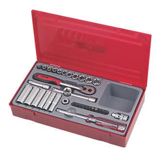"Teng Tools TT1435 1/4"" Drive Metric Socket Set 35 Pack"