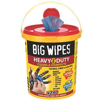 Big Wipes Heavy-Duty Wipes Blue 240 Pack