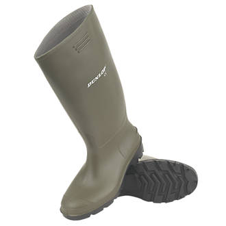 Dunlop Pricemaster   Non Safety Wellies Green Size 8