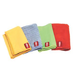 Hilka Pro-Craft Polyester & Nylon Microfibre Cloth Set 4 Pieces