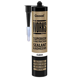 Geocel The Works Pro Sealant and Adhesive Clear 290ml