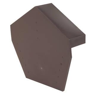 Glidevale Brown Universal Dry Verge Angled Ridge Caps 2 Pack
