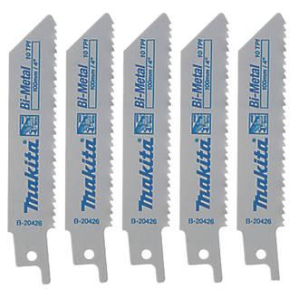 Makita B-20426 Reciprocating Saw Blades 100mm 5 Pack