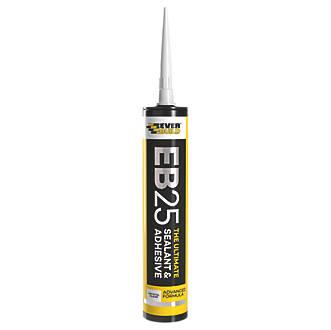Everbuild EB25 Hybrid Sealant & Adhesive Crystal Clear 300ml