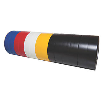 Diall 510 Insulating Tape Mixed 33m x 19mm 14 Pieces