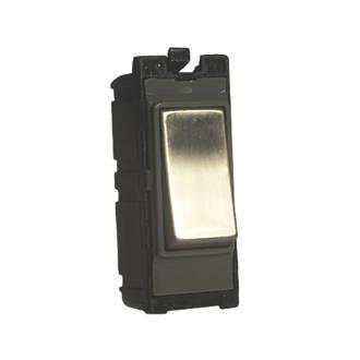 Varilight Z2DG103SS 10A Intermediate Switch Brushed Steel