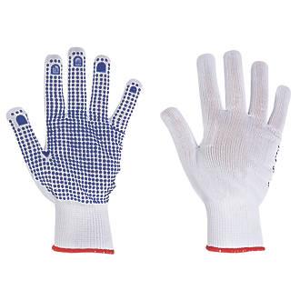 Keep Safe Polka Dot Picking Gloves White/Blue X Large