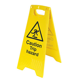 Caution Trip Hazard A-Frame Safety Sign 600 x 290mm