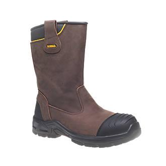 DeWalt Millington Metal Free  Safety Rigger Boots Brown Size 7