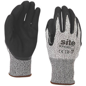 Site KF520 Gloves Grey / Black X Large