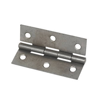 Self-Colour  Steel Fixed Pin Hinges 75 x 51mm 2 Pack